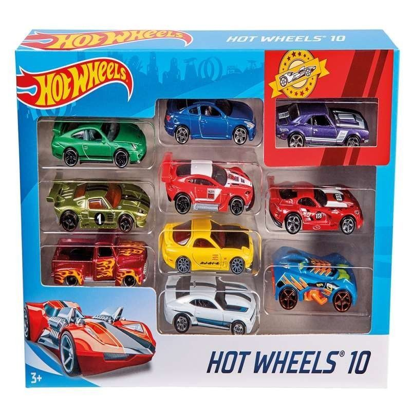 HOT WHEELS PACK 10 VEHICULOS