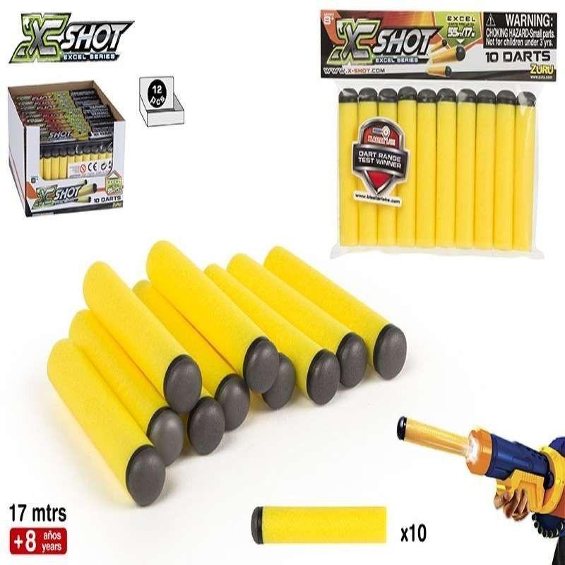 X - SHOT / PACK  10  DARDOS...