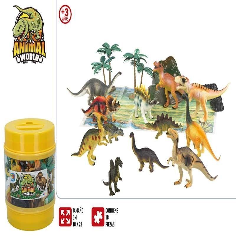 BOTE ANIMALES DINOSAURIOS Y...