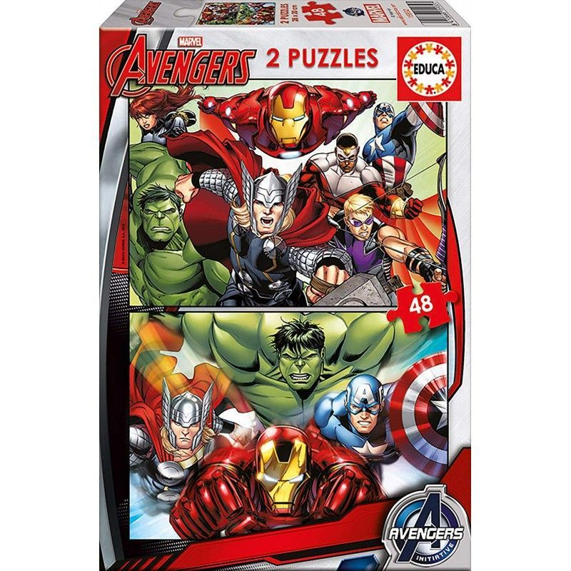 PUZZLE 2 X  48  AVENGERS