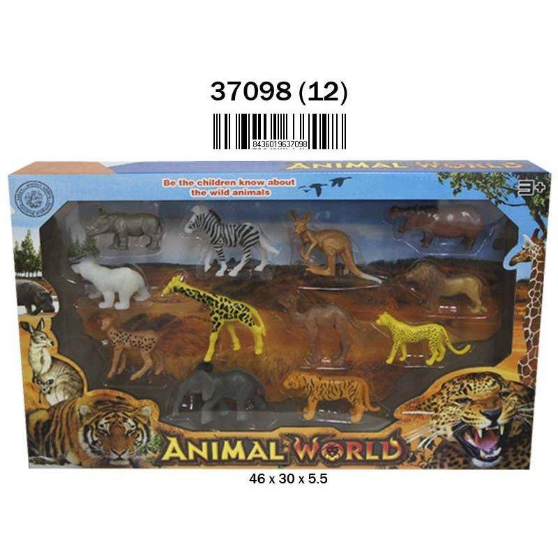 ANIMALES SALVAJES 12 PIEZAS