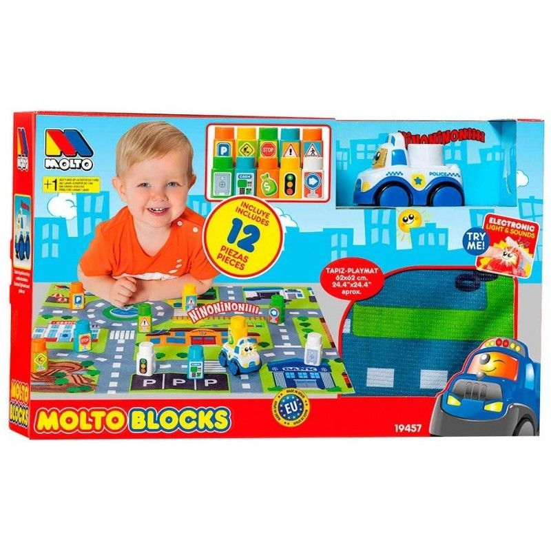SET BLOCKS CAR TAPIZ 12 PIEZAS