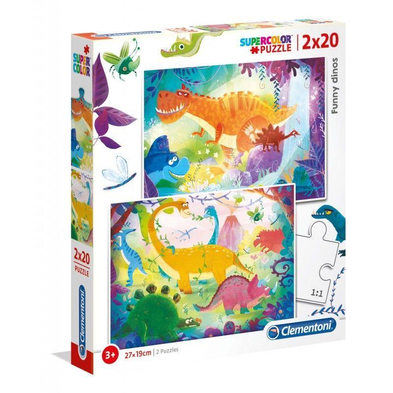 PUZZLE 2X20 DINOSAURIOS