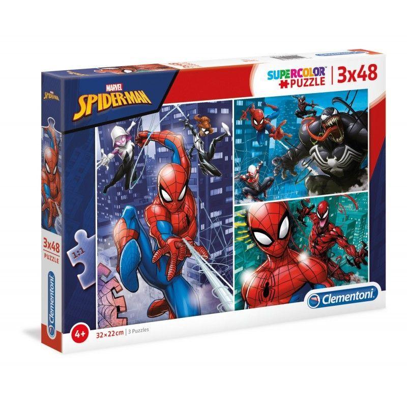 PUZZLE 3X48 SPIDERMAN